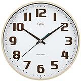 Felio(フェリオ) 掛け時計 非電波 アナログ チュロス 直径22.5cm 連続秒針 アイボリー FEW182IV-Z