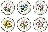Portmeirion Botanic Garden - Juego de platos (6 unidades, 25 cm), diseño de flores