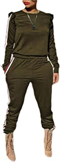 qianqianq Womens Pullover Sweatshirt Pants Sport 2 Pieces Tracksuit Sets