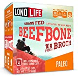 Beef Bone Broth Powder by LonoLife, Grass Fed, 10g Collagen Protein, Keto & Paleo Friendly, Low-Carb, Gluten Free, Single Serve Cups (.53oz ea) - 24 Count