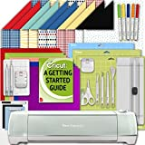 Cricut Explore Air 2 Machine Beginner Set: Shimmer Party Paper, Essential Tools, GripMat, and...