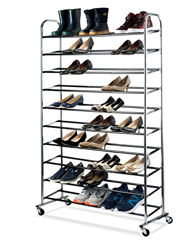 Shoe Organizer - Chrome Shoe Storage Supreme 50 Pair Shoe...