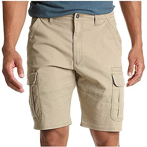 N\P Pantalones de los hombres bolsillo cremallera resistencia tiempo libre herramientas pantalones cortos multi