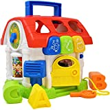 Musical Shape Educational Sorting Toy for Toddlers and Baby, First Blocks Cube Learning Sorter Shapes Activity House Box