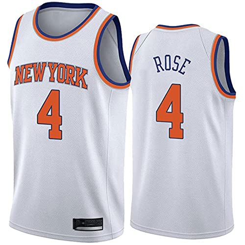 GFDDZ NBA Basketball Jersey, New York Knicks # 4 Derrick Rose Classic Jersey, Camiseta sin Mangas Deportiva Unisex para fanáticos del Baloncesto
