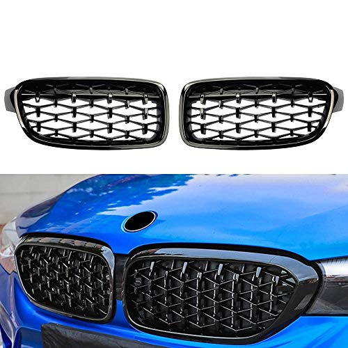 HCHD Dasbecan Front Car Racing Grill for BMW 3 Series F30 F31 F35 320i 328i 335i 2012-2018 Auto Grille Kidney Replacement Grilles (Color : Black)