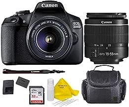 Canon EOS 2000D (Rebel T7) DSLR Camera + 18-55mm III Kit +Case+ 32gb Memory Card+ TopKnotch Deals Cloth (International Model)