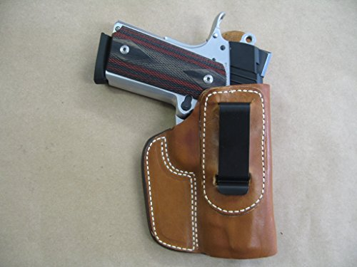 Kimber Ultra Carry 1911 Compact IWB Leather In The Waistband Concealed Carry Holster TAN RH