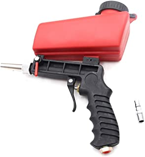 "Sand Blaster Gun Kit, Tips ¼"" Quick Connect, Sandblaster Spray Handheld Gravity Feed Media Blasting Gun kit"
