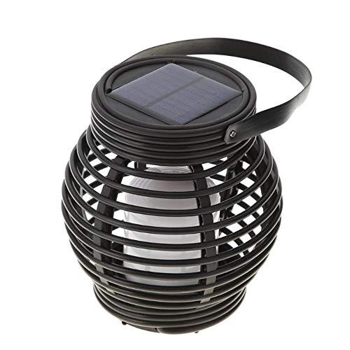 N/ A 15LED Lanterna in Rattan di plastica Solare Art Deco Light 600mAh Lampada da Giardino per Esterno Impermeabile da Giardino