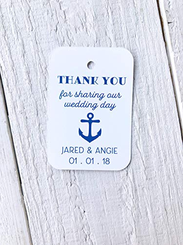 Personalized Nautical Anchor Wedding Favor Tags