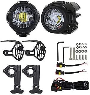 Urben Life Faros Antiniebla De La Motocicleta, Luces Auxiliares LED con Soportes De Metal, Carcasa De Fundición De Aluminio para El Camión De Motocicleta ATV De BMW (Paquete De 2)