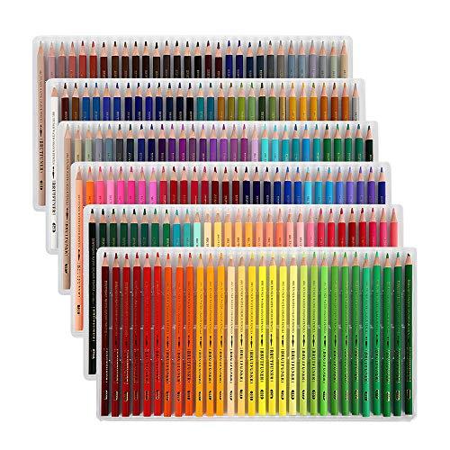Buntstifte Set 180 Farben Kunst-Buntstifte Farbstifte Öl Bleistift, Farbstifte Set Professionell für Zeichnen Skizzieren Buntstifte für Erwachsene Kinder Künstler und Skizzenzeichner