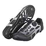 Cycling Shoes for Men Women Luminous Road Cycling Riding Shoes Peloton Shoes Breathable Cleat Compatible SPD Look Delta Indoor Cycling Spin Shoes Carbon Fiber,Black,45