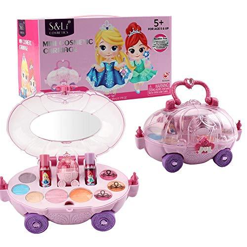 12pcs Make-up-Set Für Mädchen,Waschbar Kinder Kosmetik Set, Sicher Und Ungiftig Lipgloss Rouge...