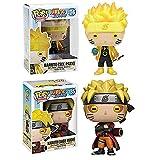 2 Uds Pop Naruto # 185 # 186 Naruto Uzumaki con Caja Figura De Acción Juguetes Colección Modelo De Juguete para Niños 10Cm
