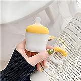 Für Airpods 2 Hülle Nette Cartoon Baby Fütterung Milchflasche Kopfhörer Hüllen Für Apple Für Airpods 2 Cover Funda Mit Fingerring Gurt, Gelb
