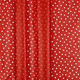 Stoff Regenjackenstoff mit Punkten | Rainy Dots rot | 50cm