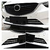VERMOUTH Hliberty Store 4pcs Sus304 Acero Inoxidable Rejilla Delantera de Acero Inoxidable adornar Adornos de Ajuste Inferior para Mazda 6 Atenza 2015-2017