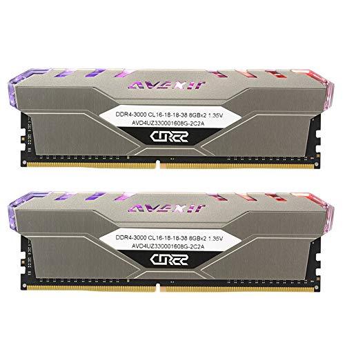Avexir Core2 DDR4, RGB DIMM 32 GB (2 x 16 GB) DDR4 3200 MHz C16 XMP 2.0 Enthusiast RGB LED Illuminated Memory Kit 288-Pin, Desktop Ram