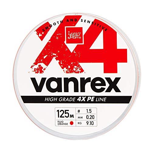 Lucky John 0,12mm Gr/ün X8 Geflochtene Angelschnur Vanrex 125m Leuchtend Gr/ün