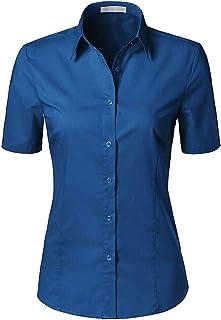 H2H Dark Blue Women's US Size 50 US Large L Button Down Shirt Blouse