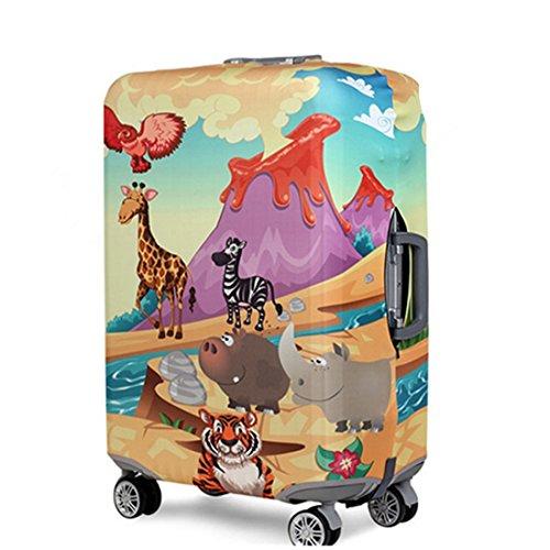 YianBestja Elastico Cover Proteggi Valigia per 18-32 Pollici, Copri Valigia Anti-Polvere Copertura per Valigia Suitcase Cover (Animal World, XL (Bagaglio da 29-32 pollici))