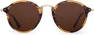 JIM HALO Classic Round Sunglasses for Men Women Polarized Lens UV400