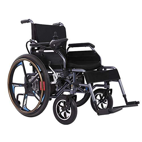 DLY Älterer Untauglicher Elektrischer Rollstuhl, Der Leichten Rollator mit Prüfer und Bremsen für Ältere Behinderte und Untaugliche Benutzer Faltet