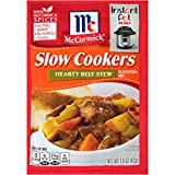 McCormick Slow Cookers Hearty Beef Stew Seasoning Mix, 1.5 oz
