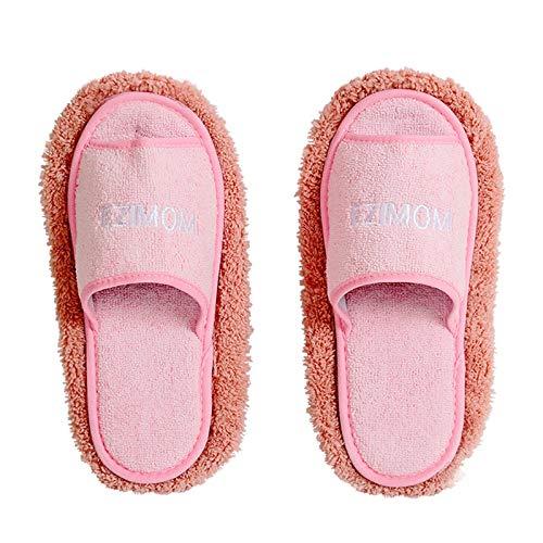 Zapatillas de trapeador 2 pares de zapatillas de limpieza de piso MOP PISO DE PIEZA LIMPIEZA DE LIMPIEZA DE LIMPIEZA DE PIEZA ZAPATIONS Zapatillas de limpieza de piso ( Color : Pink , Size : Medium )