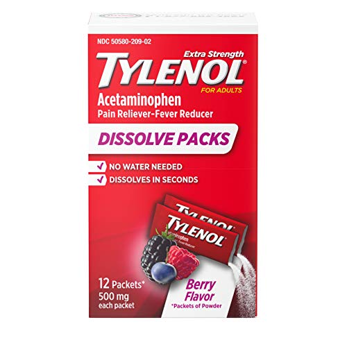 Tylenol Extra Strength Dissolve Packs with Acetaminophen for Pain &...