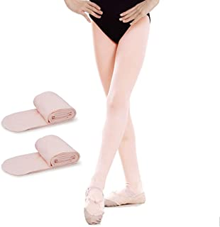 Girls' Ultra Soft Pro Dance Tights Ballet Footed Tight Daily Student Tights (Toddler/Kids/women)