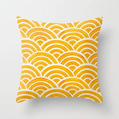 GEGEBIANHAOKAN Fresh Yellow Pillowcase Hot Geometry Floral Cushions Cases Modern Decorative Throw Pillows For Car Bed Sofa Couch|Cushion|