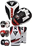 RDX Boxing Pads and Gloves Set | Hook and Jab Target Focus Mitts