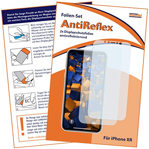 mumbi Schutzfolie kompatibel mit iPhone XR Folie matt, Displayschutzfolie (2X)