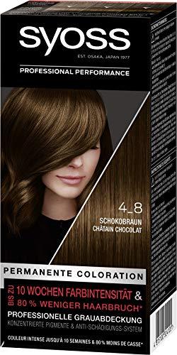 SYOSS Coloration Stufe 3 4_8 Schokobraun, bis zu 10 Wochen Farbintensität, 3er Pack (3 x 115 ml)