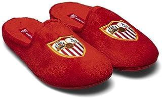 Zapatillas Oficiales Sevilla FC Escudo Zapatillas de Estar por casa Hombre Invierno Otoño