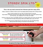 Steady Spin Washing Machine Stabilizer - Eliminate Vibration and Noise for Washing Machines and Dryers, Anti Vibration