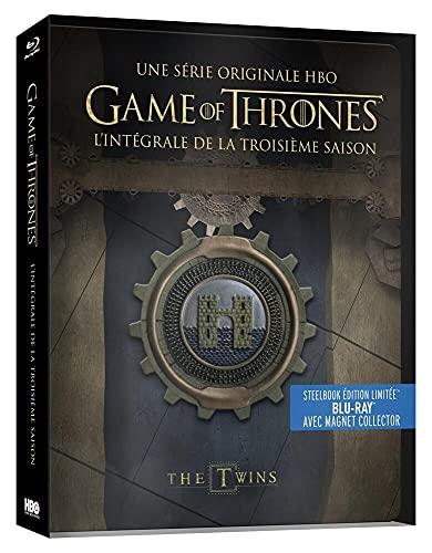 Game of Thrones (Le Trône de Fer) - Saison 3 - Edition limitée Steelbook - Blu-ray - HBO [SteelBook édition limitée - Blu-ray + Magnet Collector]