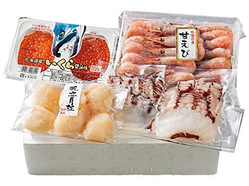 北のお刺身セット (いくら醤油漬け たこ薄造り ほたて貝柱 甘海老) 北海道産の原料にこだわりました おさしみ海鮮セット ギフトや贈り物にも