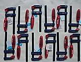 Lot de12 serre-joints SZ 50 x 250 mm avec poignée en plastique