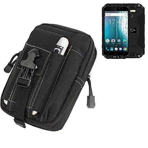 K-S-Trade Gürtel Tasche Für Oukitel K10000 MAX Gürteltasche Holster Schutzhülle Handy Hülle Smartphone Outdoor Handyhülle Schwarz Zusatzfächer