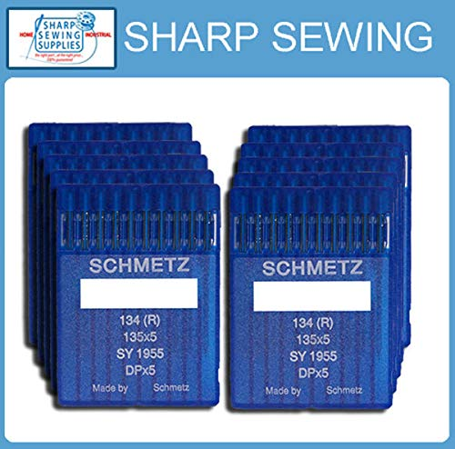 Fantastic Prices! MACOSKI Supplies for 100 SCHMETZ 135X7 18110 LOCKSTITCH Needles 135X5 DPX5 134 R D...