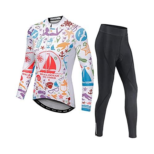Mujer Ciclismo Jersey Manga Larga Bicicleta Camisa Ropa Depo