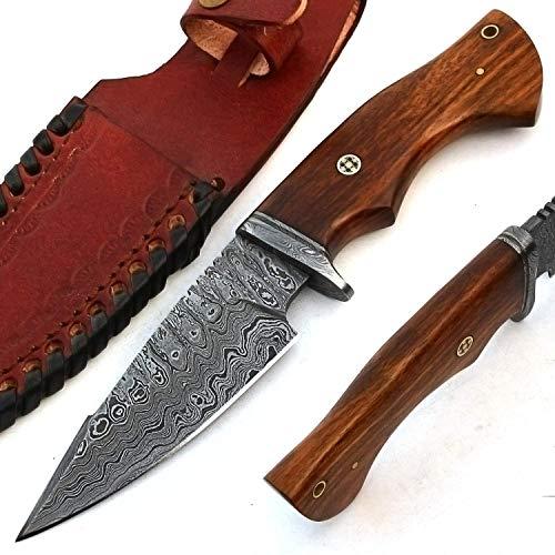 PAL 2000 Damascus stål kock köksknivar – 10 cm ca full Tang Damaskus stål kockkniv – bästa handgjorda Damaskus kökskniv med mantel köp med tillförsikt. 9745