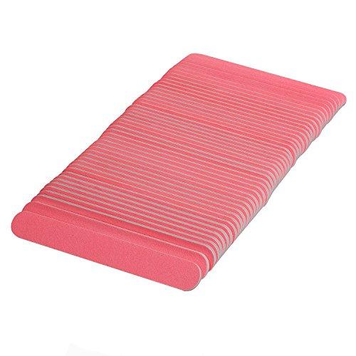 tinxi® 50 x Lima per unghie blocco di levigatura, strumento di manicure a doppio lati-Rosa