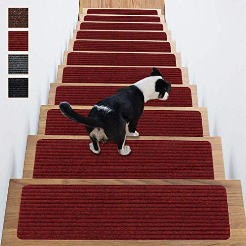 Stair Treads Non-Slip Carpet Indoor Set of 14...