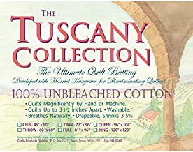 Hobbs Batting Tuscany Unbleached Cotton Queen Size Quilt Batting