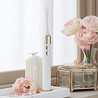 MUTTUS elektrische tandenborstels met 4 DuPont-borstelkoppen en reiskoffer voor draadloos opladen-Wit